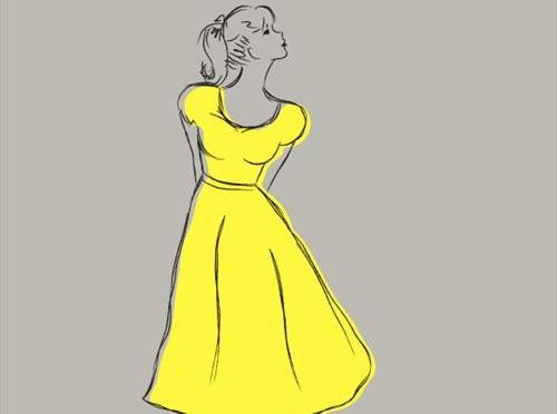 Nis Georg Bøgen – Pigen i den gule kjole